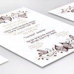 הזמנות לחתונה עם פרפרים 1